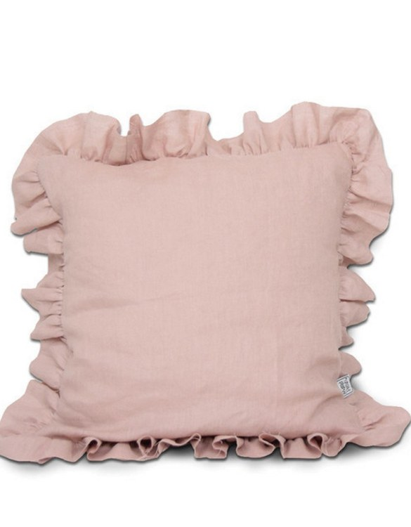 Perfect for any little one or teenager's bedroom, the Ruffle Linen Children's Pillow is great for finishing up your little one's playroom. Your kids will love it! This children's cushion is super soft and super cute. A beautiful addition to any nursery or kids' room.