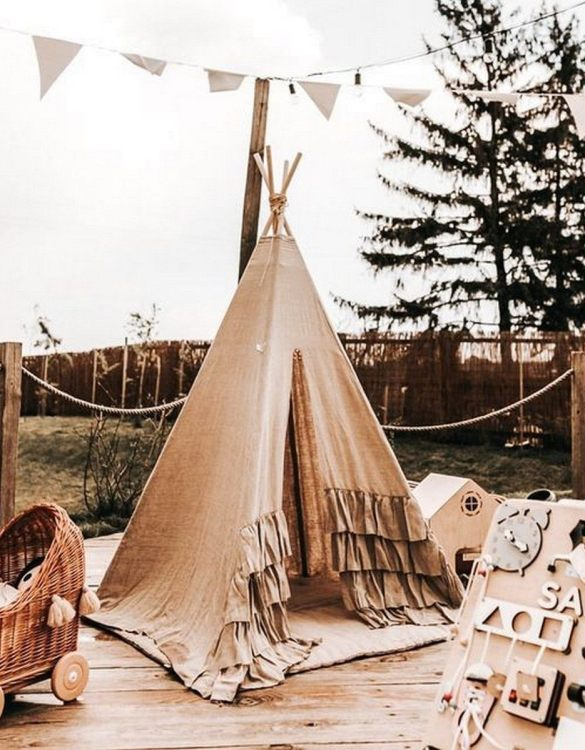 Add the perfect touch to your child's room with the Sarah Children's Teepee Tent. A perfect hideaway for tiny people, this decorative kids' play tent is a wonderful space for little ones to call their own and immerse themselves in imaginative play.