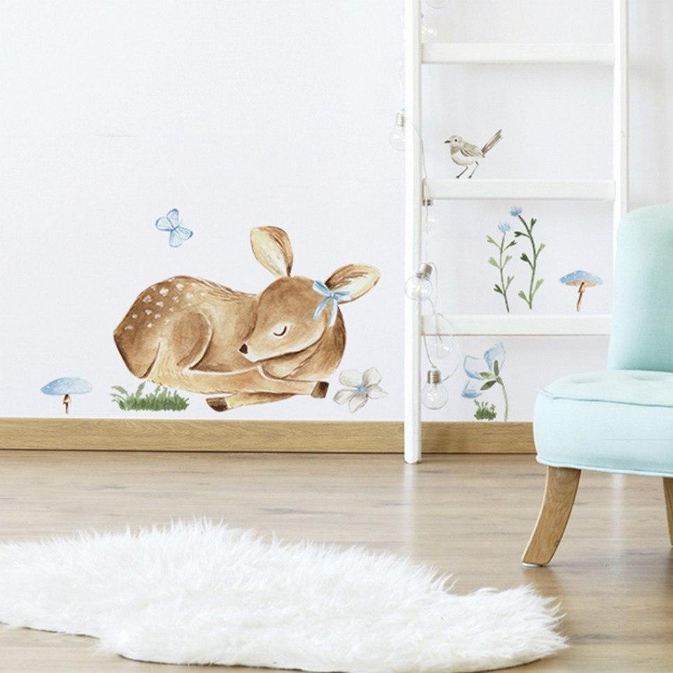 Sleeping Deer Children's Wall Sticker