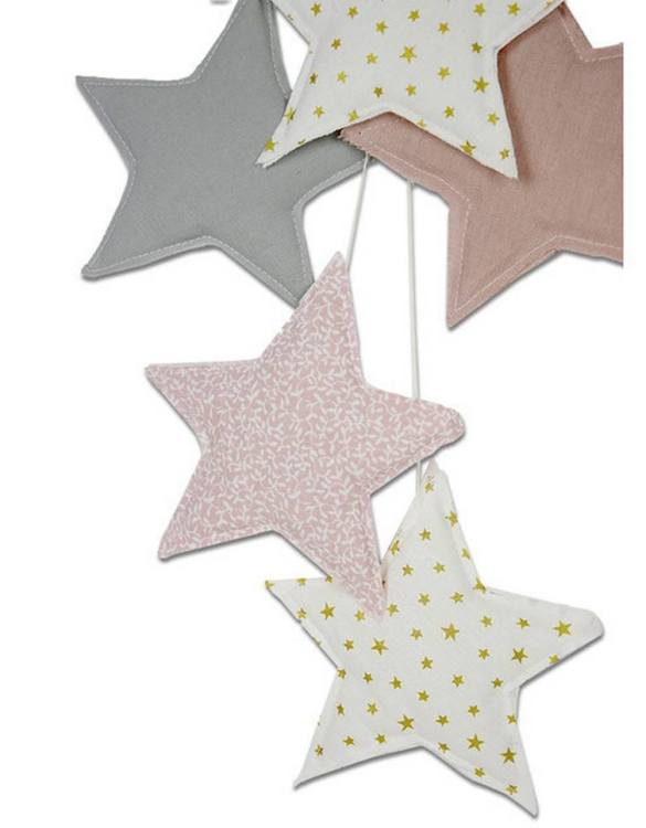 The ideal gift for a new baby or a Christening present, the Star Garland Powder Pink makes a fab addition to a party or a little one's room. A gentle garland will decorate your nursery room and contribute to the development of the baby.