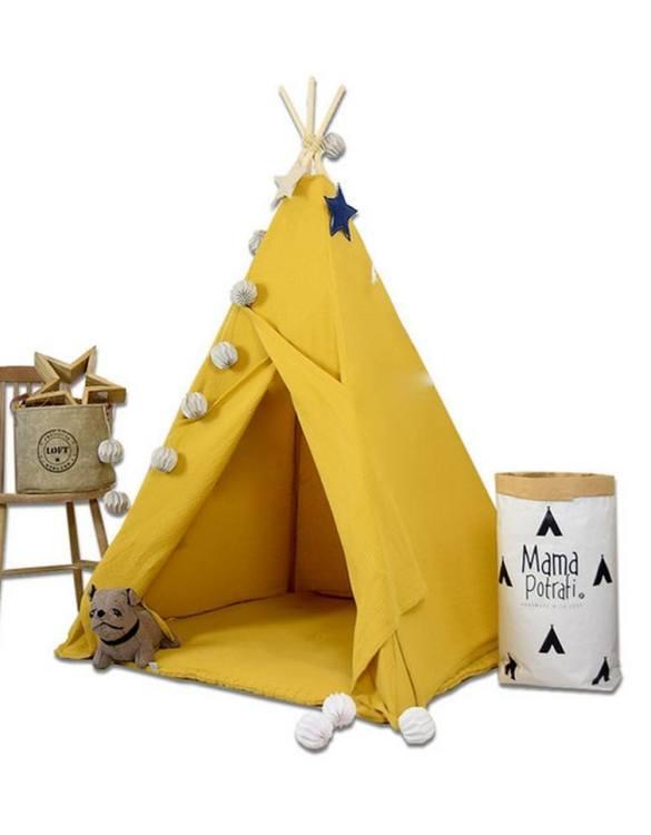 Add the perfect touch to your child's room with the Sun Glow Children's Teepee Tent. A perfect hideaway for tiny people, this decorative kids' play tent is a wonderful space for little ones to call their own and immerse themselves in imaginative play.