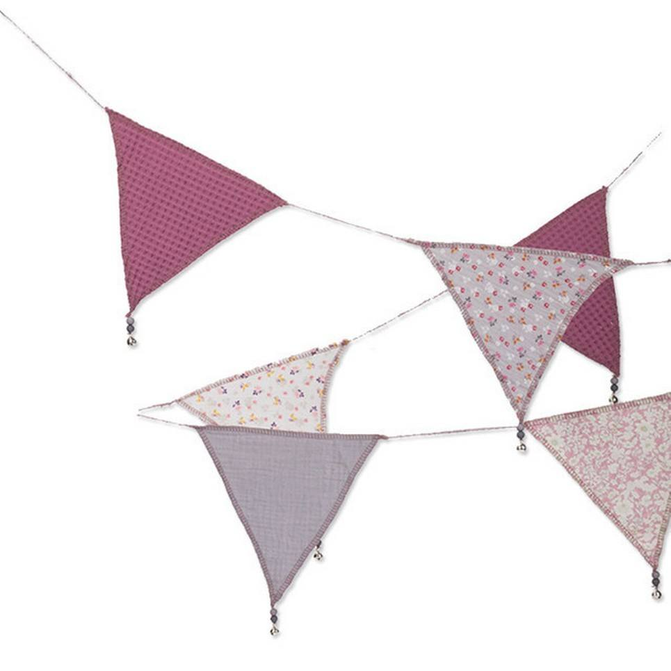 Triangle Bunting Blueberry Flowers