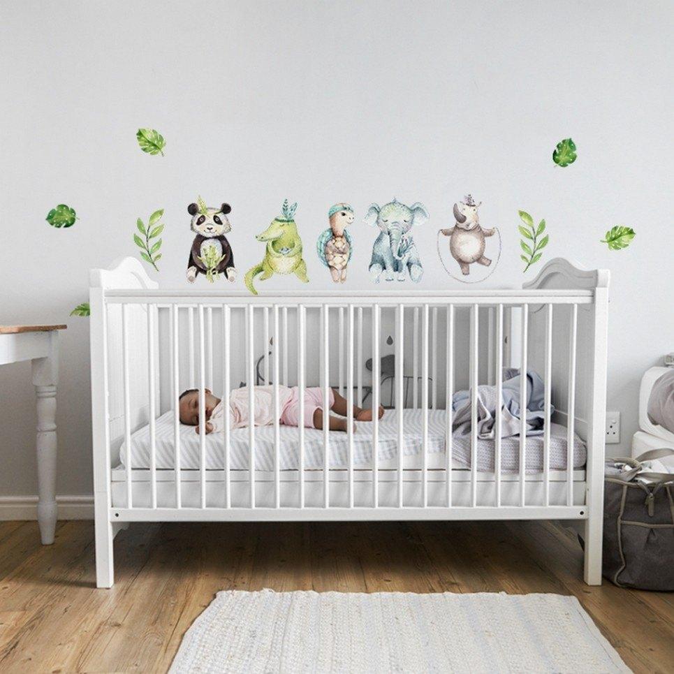 Tropical Animals Children's Wall Sticker