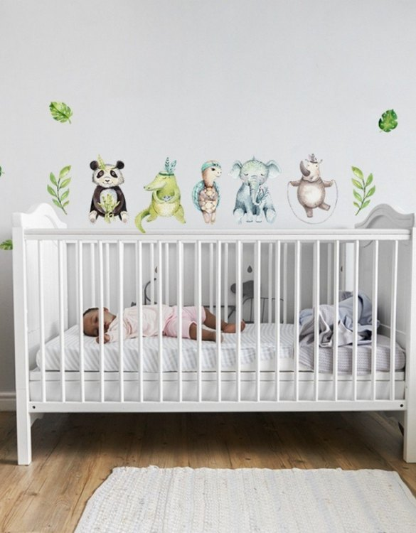 A beautiful scene for children's rooms and nurseries, the Tropical Animals Children's Wall Sticker is the perfect addition to any empty space (like walls or furniture). These wall stickers provide a flexible and cost-effective way to decorate your home.