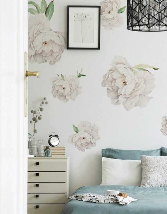 A beautiful scene for children's rooms and nurseries, the White Peonies Children's Wall Sticker is the perfect addition to any empty space (like walls or furniture). These wall stickers provide a flexible and cost-effective way to decorate your home.