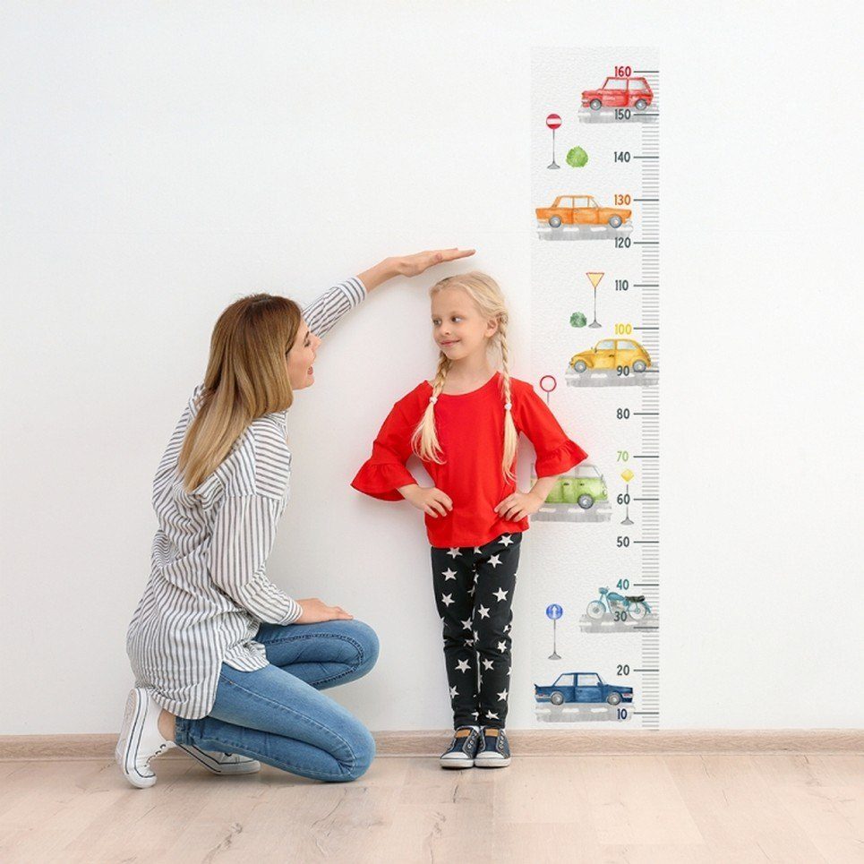 Cars and Road Child Growth Chart