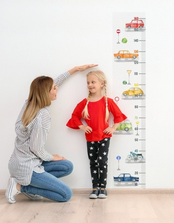 A real eye-catcher in every child's room, the Cars and Road Child Growth Chart is the perfect way to follow your child's development and growth. Bright and colourful, this height chart wall sticker will look good in nurseries, bedrooms, or playrooms.