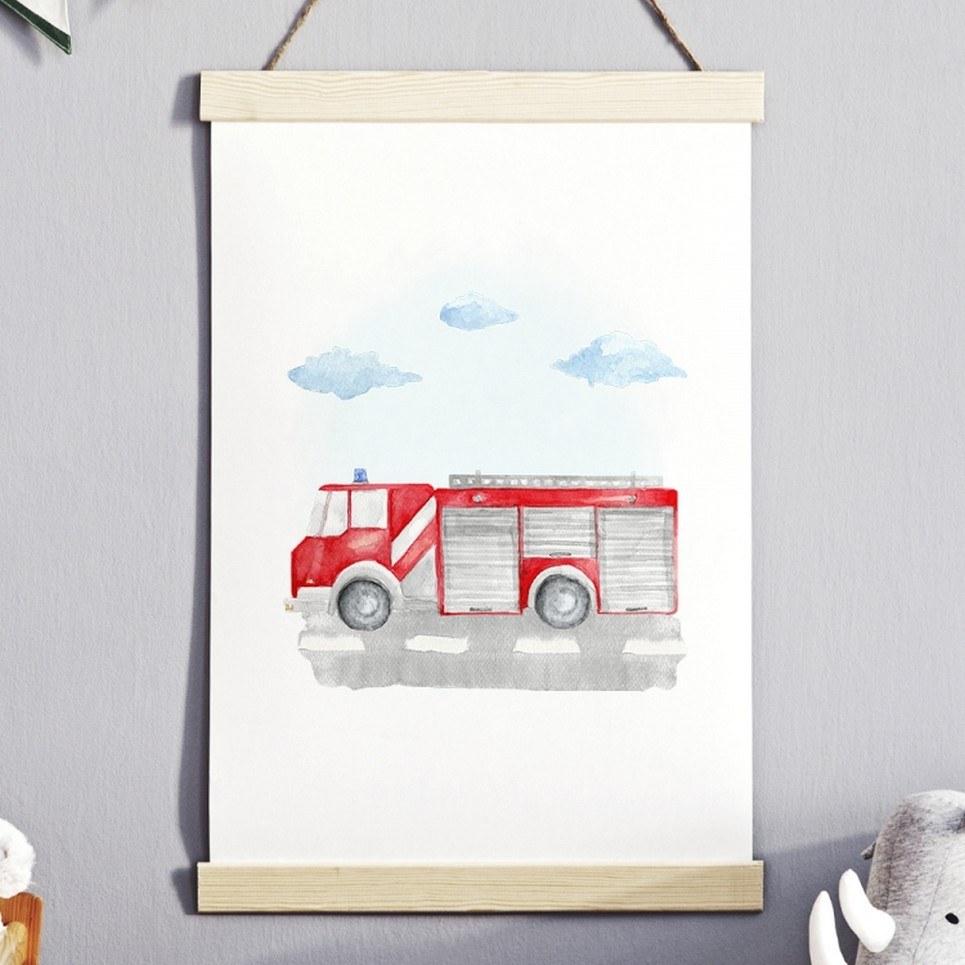 Fire Brigade Children's Poster