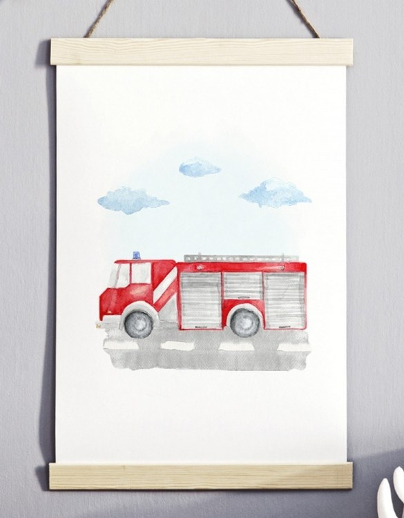 A unique keepsake that will create enchanting memories, the Fire Brigade Children's Poster is a really unique and eyecatching print that is loved by kids and adults. Encourage their wild side with this fun print. Designed in a playful font, they will make a great addition to any nursery, child's room, or playroom.
