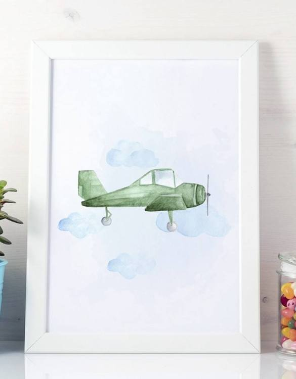 A unique keepsake that will create enchanting memories, the Light Aircraft Children's Poster is a really unique and eyecatching print that is loved by kids and adults. Encourage their wild side with this fun print. Designed in a playful font, they will make a great addition to any nursery, child's room, or playroom.