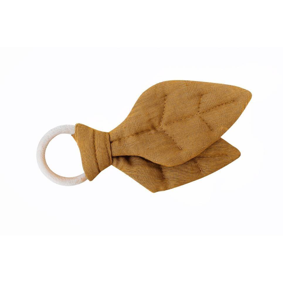 Mustard Leaf Wooden Baby Teether