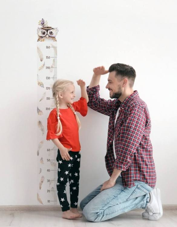 A real eye-catcher in every child's room, the Owl Child Growth Chart is the perfect way to follow your child's development and growth. Bright and colourful, this height chart wall sticker will look good in nurseries, bedrooms, or playrooms.