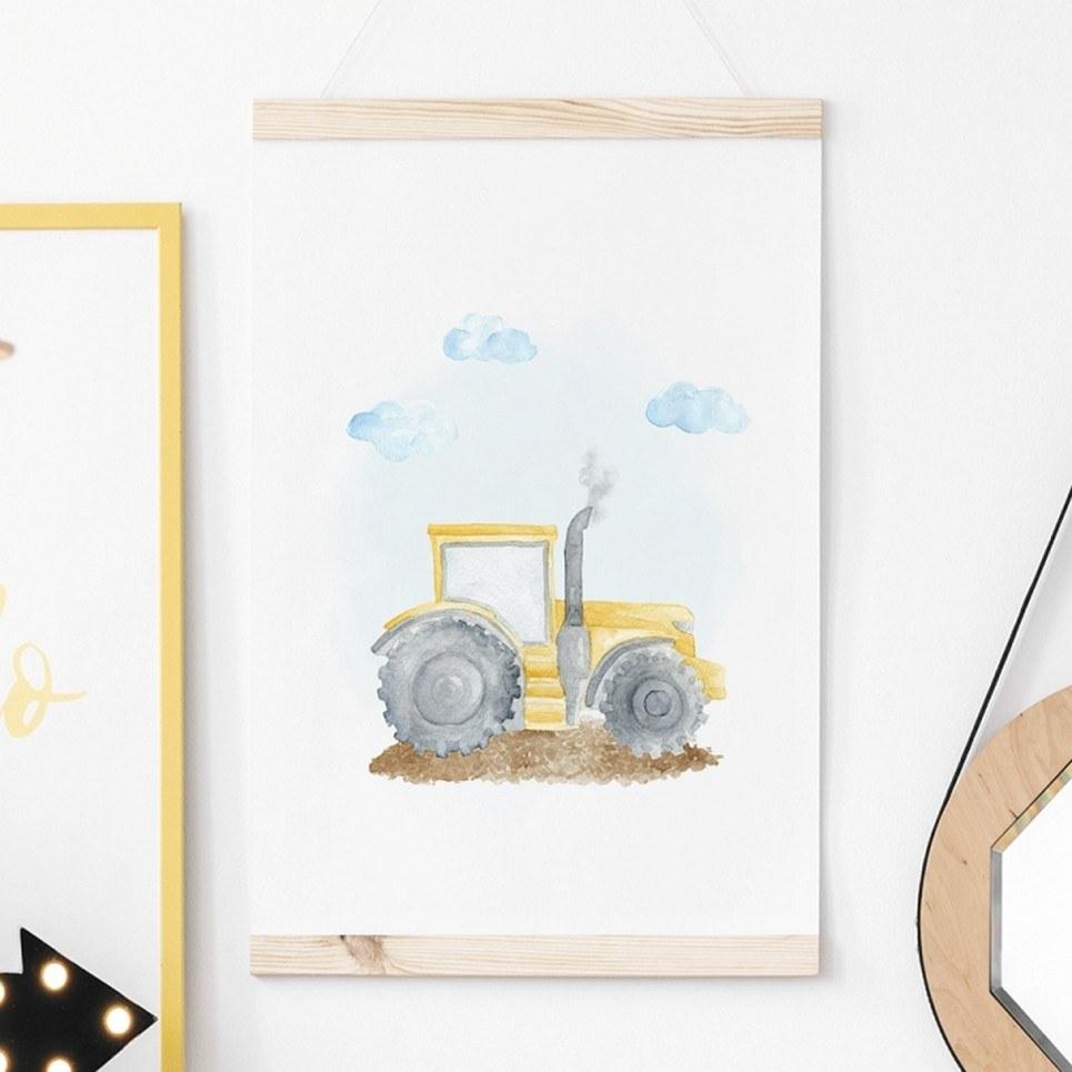 Tractor Children's Poster