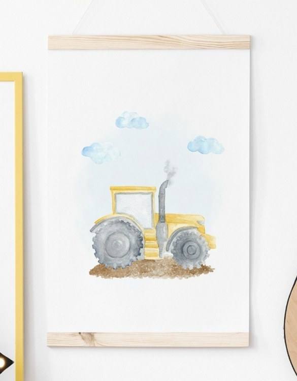 A unique keepsake that will create enchanting memories, the Tractor Children's Poster is a really unique and eyecatching print that is loved by kids and adults. Encourage their wild side with this fun print. Designed in a playful font, they will make a great addition to any nursery, child's room, or playroom.