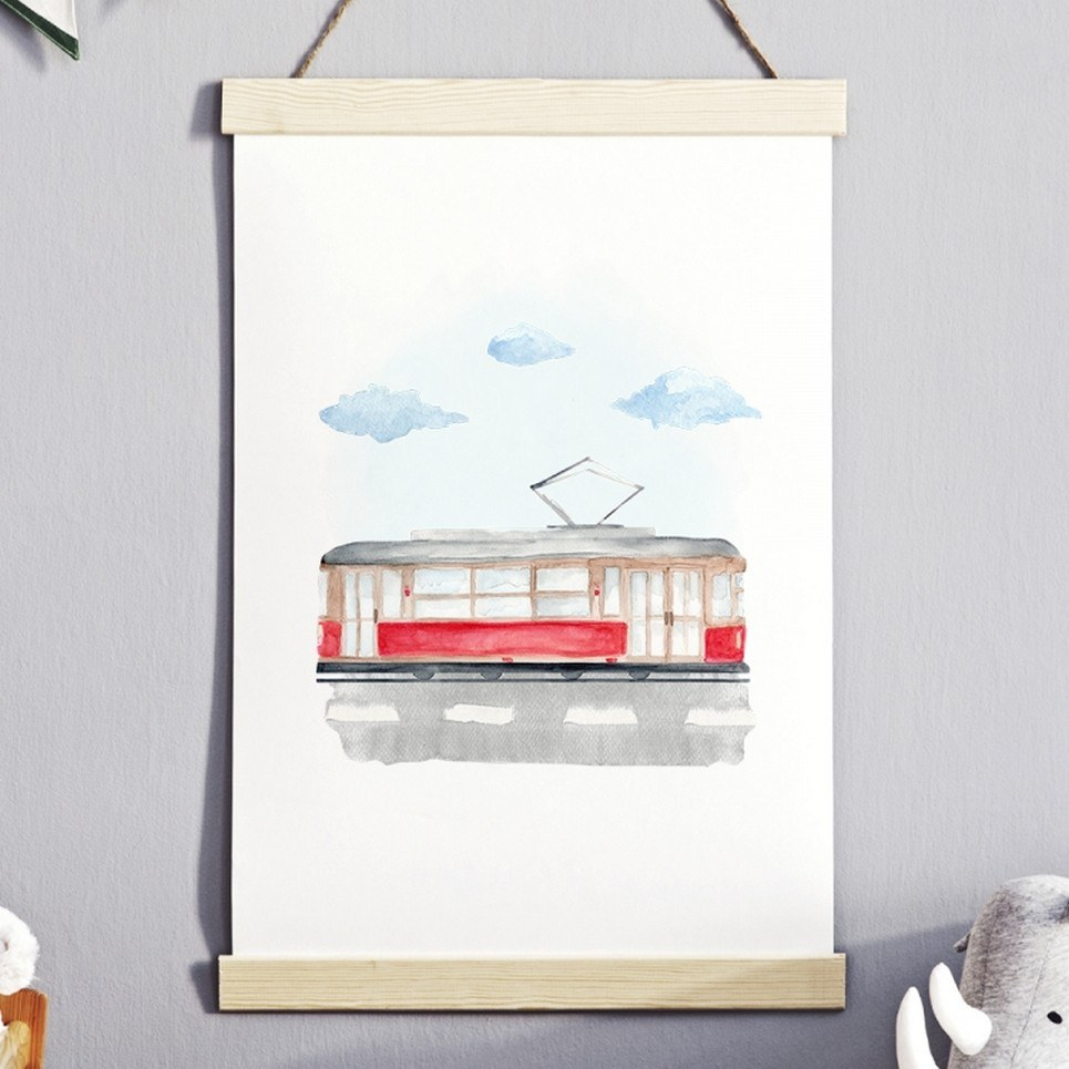 Tram Children's Poster
