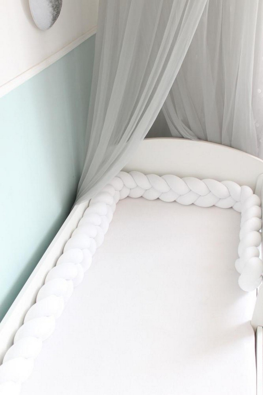 White Braided Crib Protector
