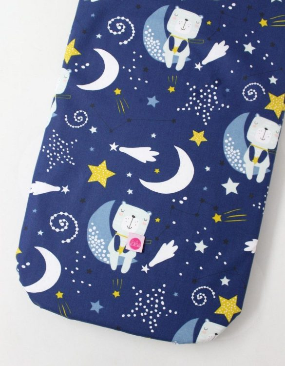Perfect as a gender-neutral choice, the Bears On A Grenade Fitted Crib Sheet will fit any crib bed or next to me pods. This fitted cot sheet is a perfect addition to spruce up your little bub's nursery.