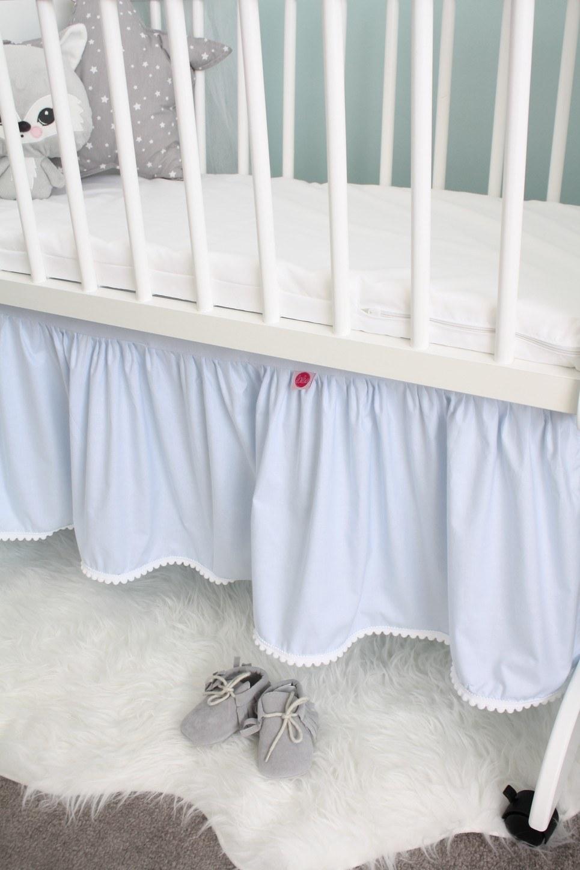 Blue Crib Bed Skirt