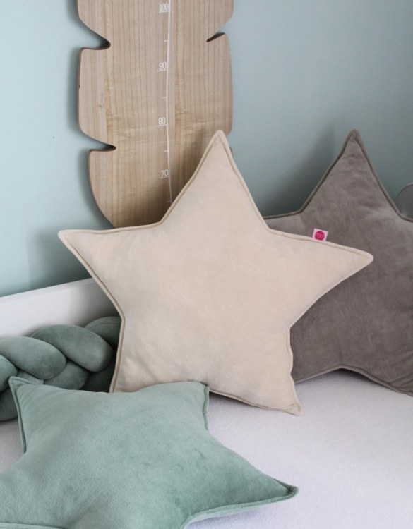 Perfect to bring the child inside everyone, the Light Beige Star Children's Cushion will add that pop of colour into any kid's bedroom or nursery!