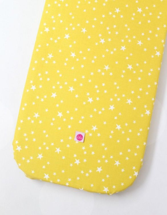 Perfect as a gender-neutral choice, the Milkyway On Yellow Fitted Crib Sheet will fit any crib bed or next to me pods. This fitted cot sheet is a perfect addition to spruce up your little bub's nursery.