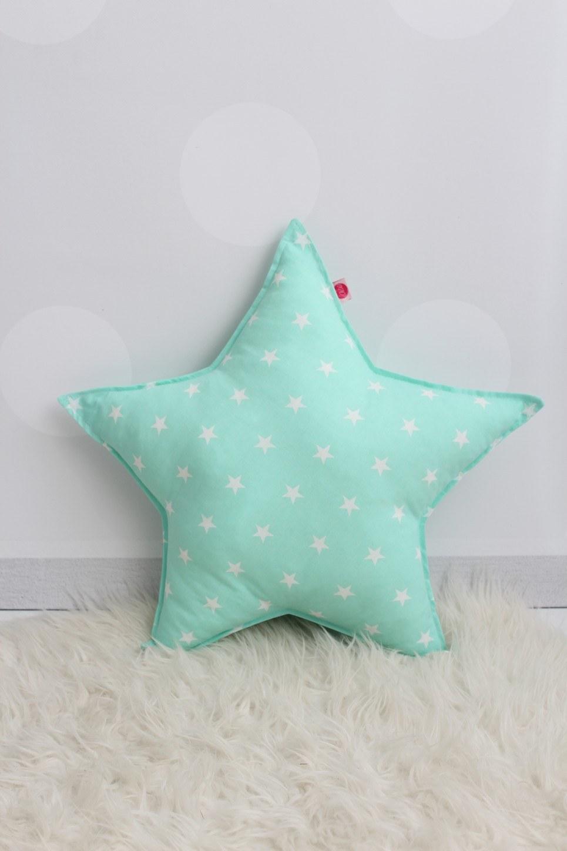 Mint Star Children's Cushion