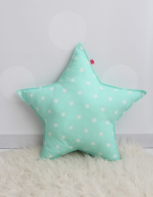 Perfect to bring the child inside everyone, the Mint Star Children's Cushion will add that pop of colour into any kid's bedroom or nursery!