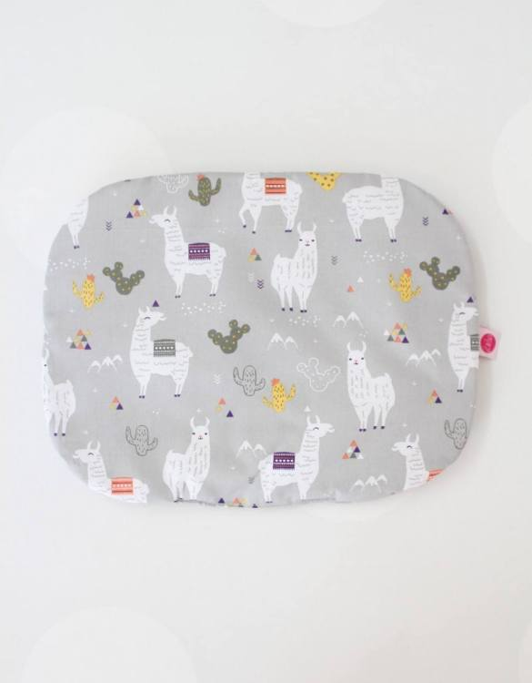 Beautifully soft and cuddly, the Llama Baby Flat Head Pillow is an adorable gift for a baby shower and also for nursery or kids' room decoration. A child up to 2 years old should sleep on a flat pillow.