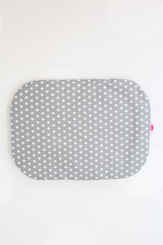 Mini Stars On Grey Baby Flat Head Pillow
