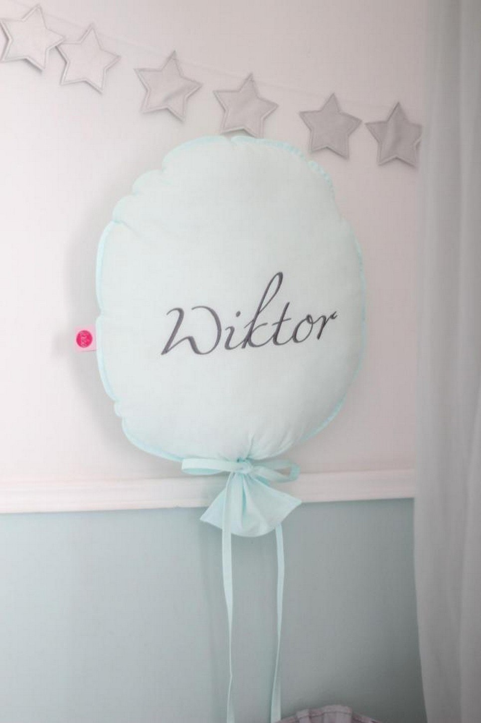 Mint Personalized Balloon Pillow