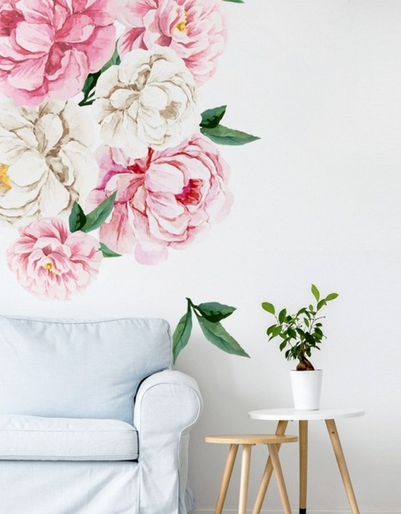 A beautiful scene for children's rooms and nurseries, the Peonies Children's Wall Sticker is the perfect addition to any empty space (like walls or furniture). These wall stickers provide a flexible and cost-effective way to decorate your home.