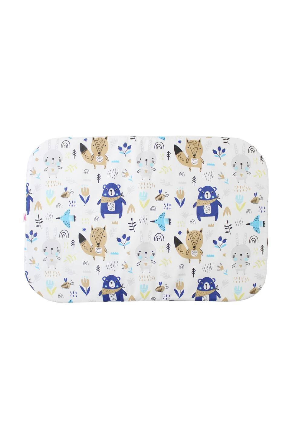 Teddy and Foxes Baby Flat Head Pillow