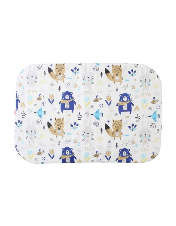 Beautifully soft and cuddly, the Teddy and Foxes Baby Flat Head Pillow is an adorable gift for a baby shower and also for nursery or kids' room decoration. A child up to 2 years old should sleep on a flat pillow.