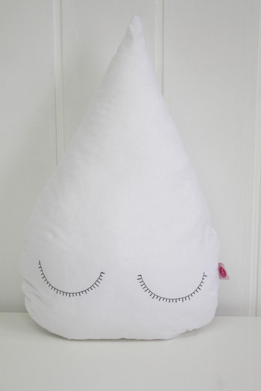 White Droplet Children's Cushion