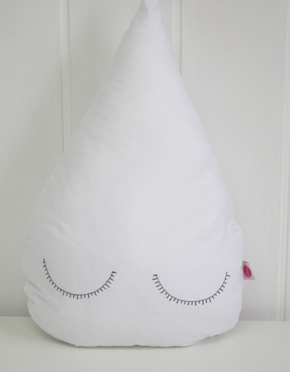 Perfect to bring the child inside everyone, the White Droplet Children's Cushion will add that pop of colour into any kid's bedroom or nursery!