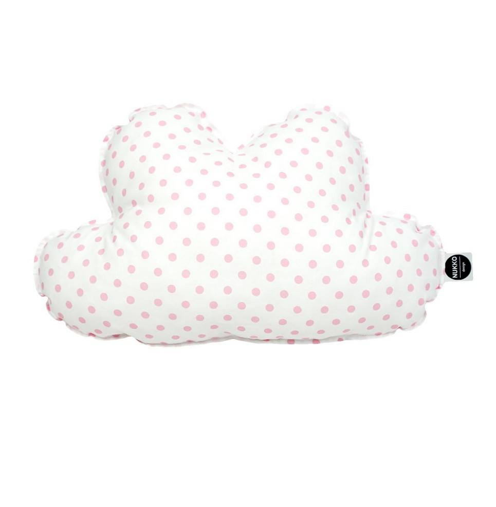 Cloud Pillow Pink Dots