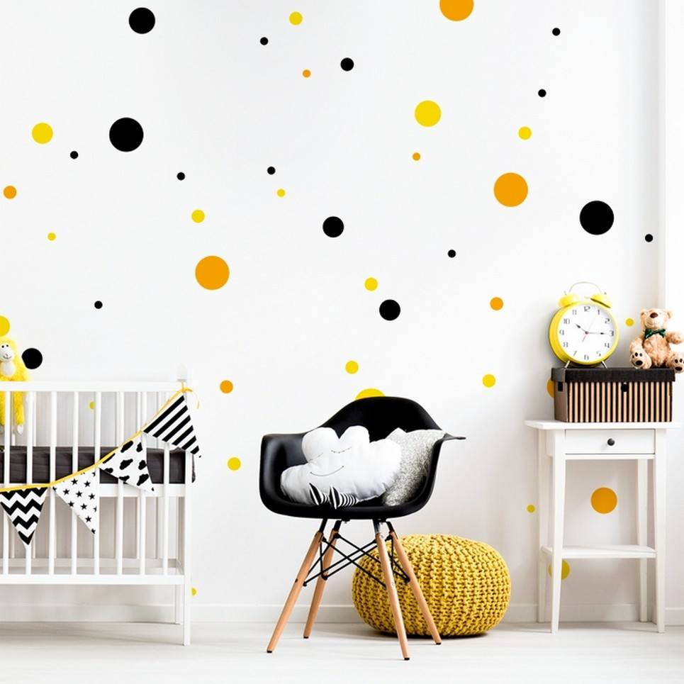 Dots 3 Colours Children's Wall Sticker