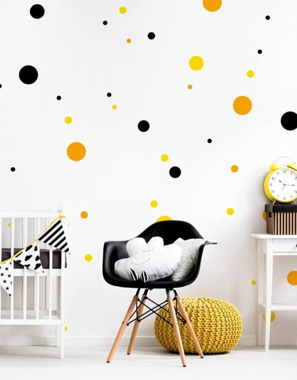A beautiful scene for children's rooms and nurseries, the Dots 3 Colours Children's Wall Sticker is the perfect addition to any empty space (like walls or furniture). These wall stickers provide a flexible and cost-effective way to decorate your home.