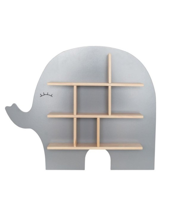 The perfect way to display your treasures, the Elephant Children's Wall Shelf is a beautiful addition to any child's bedroom or playroom! Put decorations, stuffed animals or smaller toys on the shelf and get a unique element of a children's room.