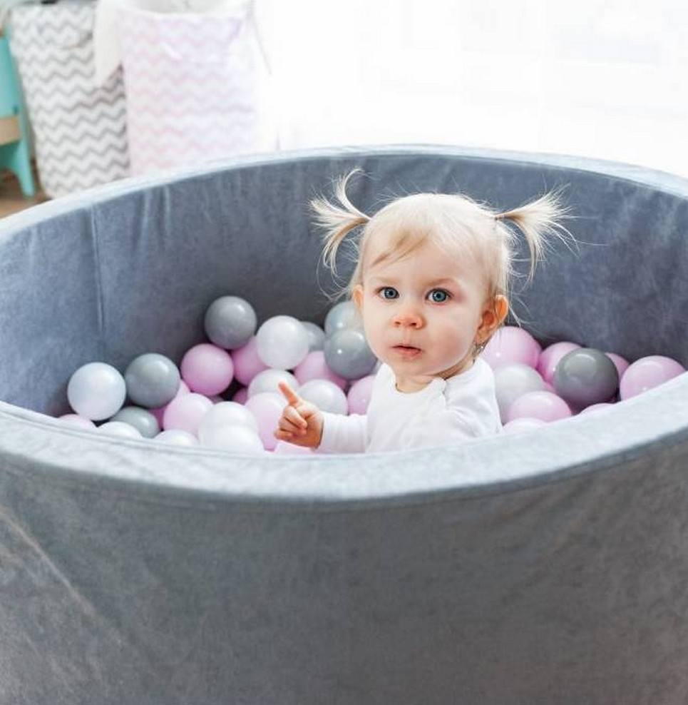 Gray Ball Pit for Kids