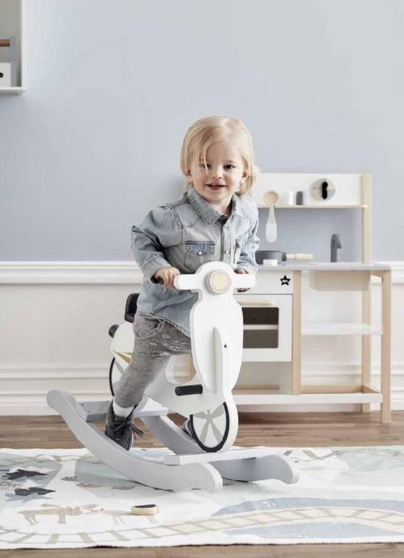 Grey Scooter Children's Rocking Toy