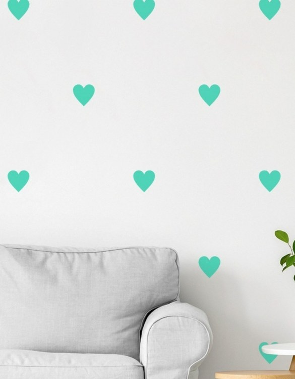 A beautiful scene for children's rooms and nurseries, the Hearts Children's Wall Sticker is the perfect addition to any empty space (like walls or furniture). These wall stickers provide a flexible and cost-effective way to decorate your home.