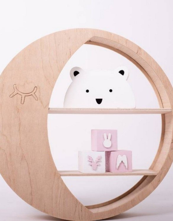 The perfect way to display your treasures, the Marigold Children's Wall Shelf is a beautiful addition to any child's bedroom or playroom! Put decorations, stuffed animals or smaller toys on the shelf and get a unique element of a children's room.