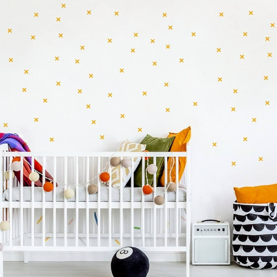 Pastel Small Pluses Children's Wall Sticker