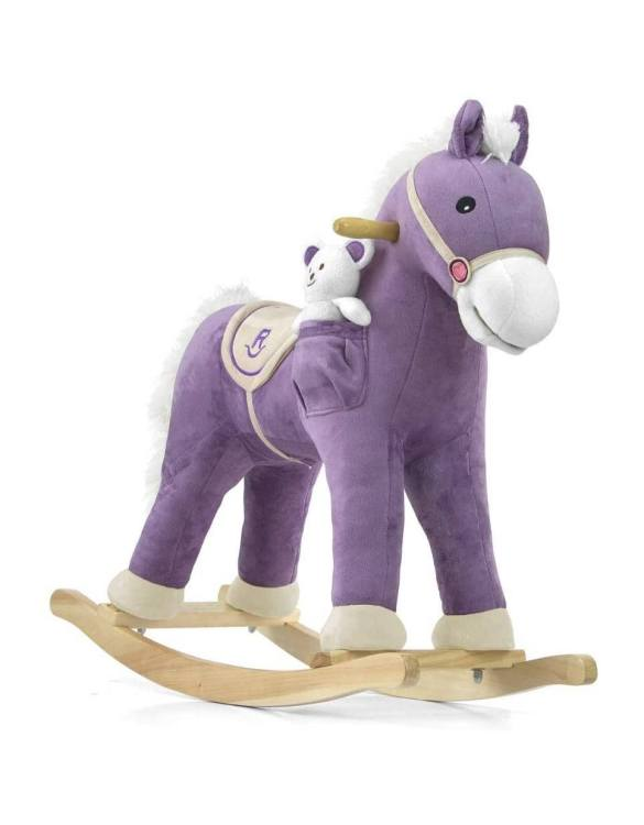 Safe for all ages 18 months and up, the Purple Children's Rocking Horse is certainly an original accessory that all your friends will envy your child. This beautiful wooden rocking toy is a lovely and unusual gift that will be enjoyed now and by future generations.