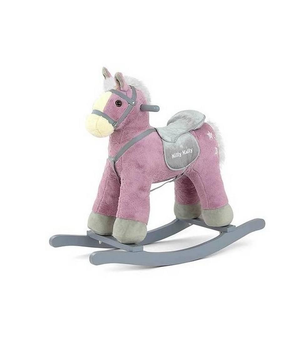Purple Plush Children's Rocking Horse