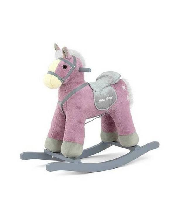 Safe for all ages 18 months and up, the Purple Plush Children's Rocking Horse is certainly an original accessory that all your friends will envy your child. This beautiful wooden rocking toy is a lovely and unusual gift that will be enjoyed now and by future generations.