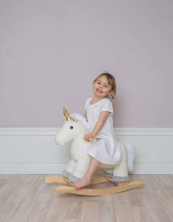 Safe for all ages 18 months and up, the Unicorn Children's Rocking Horse is certainly an original accessory that all your friends will envy your child. This beautiful wooden rocking toy is a lovely and unusual gift that will be enjoyed now and by future generations.