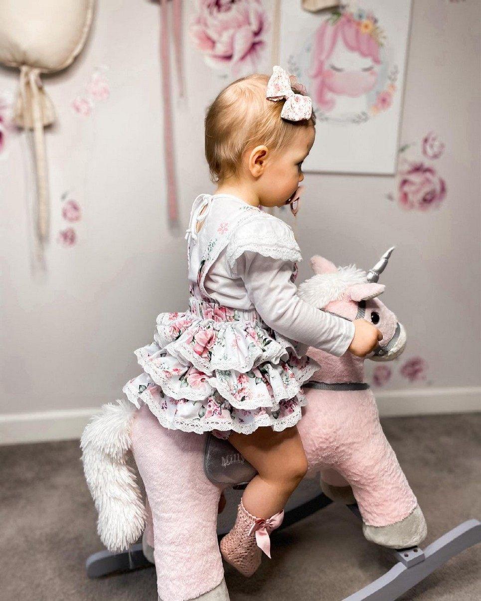 Unicorn Pink Children's Rocking Horse