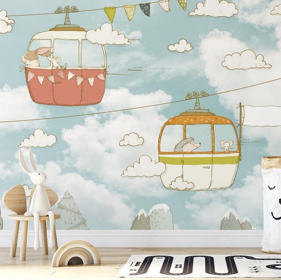 Cable Car Children's Wallpaper
