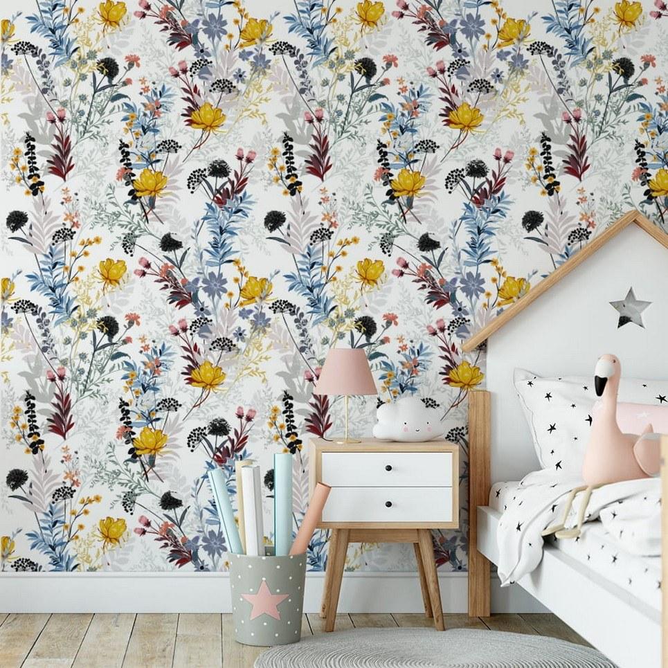 Flower Meadow Children's Wallpaper
